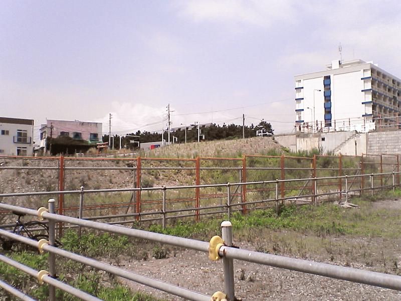 市有地との境界付近