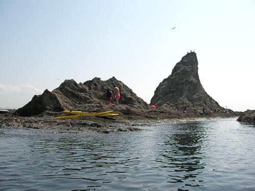 烏帽子岩南側の水路