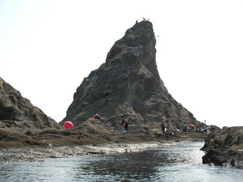 烏帽子岩南側の水路2