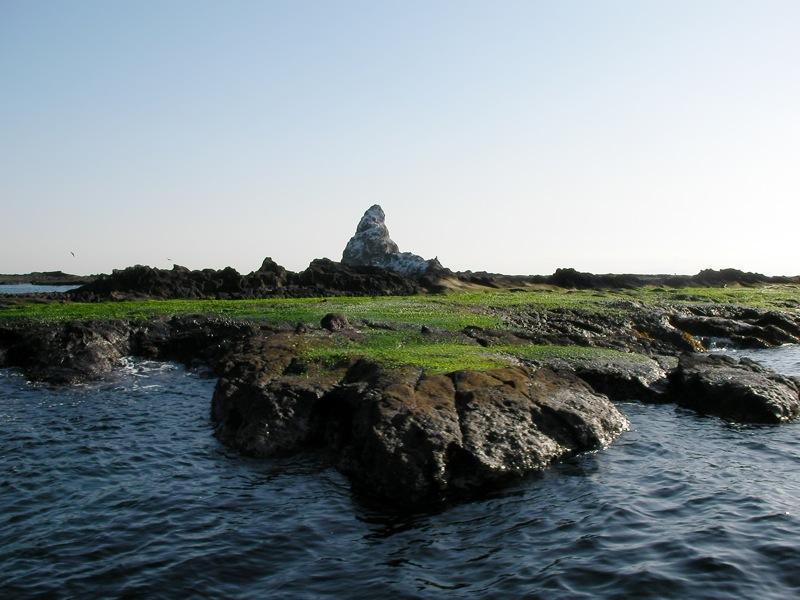 長者倉島から烏帽子岩を見る