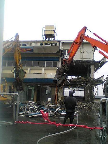 フィッシュセンター解体開始!