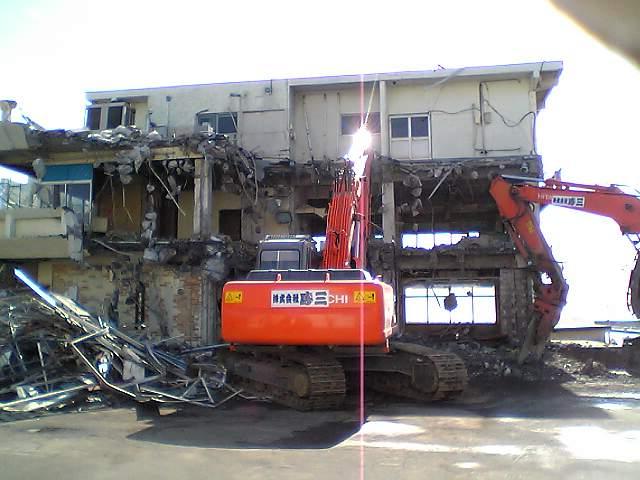 フィッシュセンター解体中!その1(2月2日)