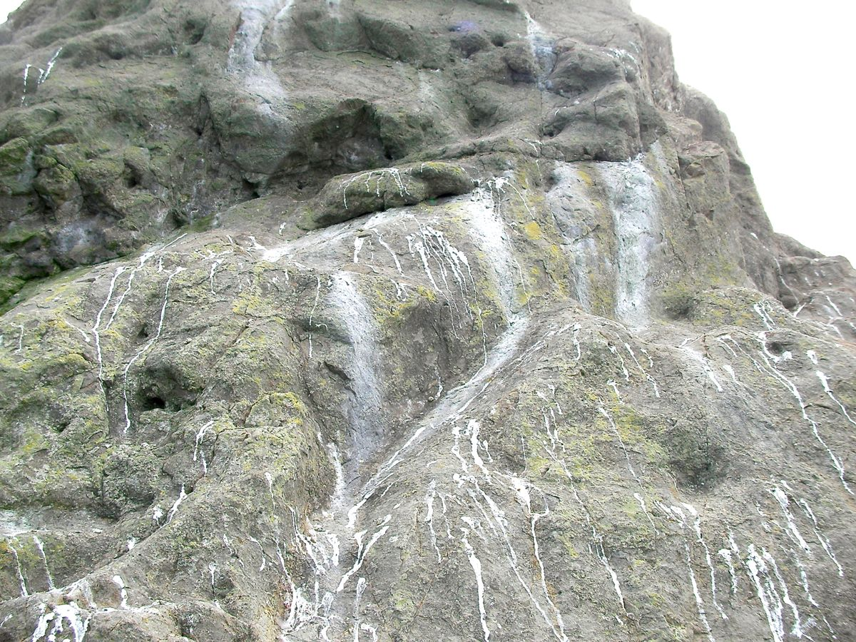 烏帽子岩の表面の様子