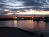 夜明けを迎える茅ヶ崎漁港
