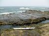 えぼし岩本島から沖をのぞむ
